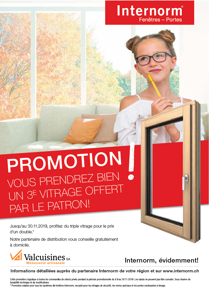 Promotion Internorm 2019 - triple vitrage